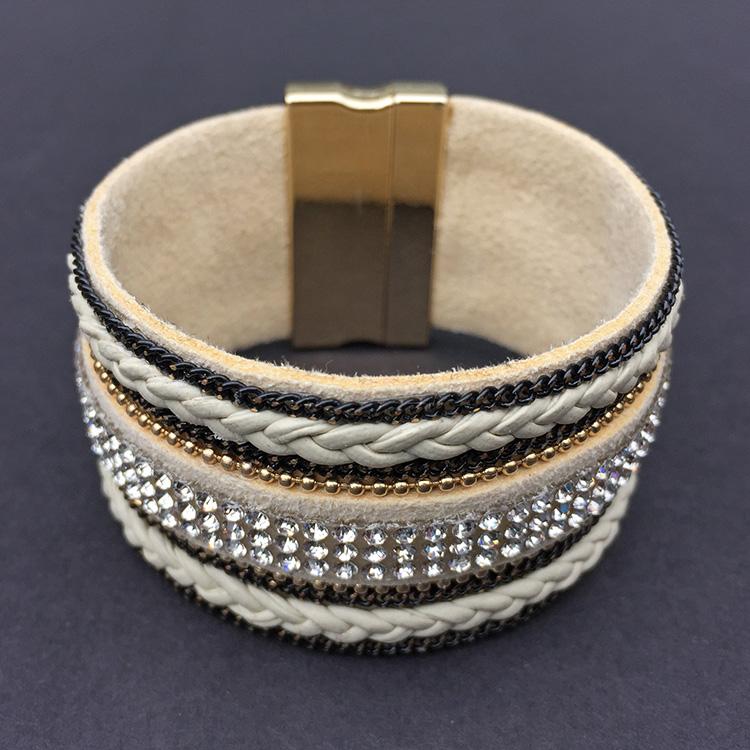 armband strass magneetsluiting