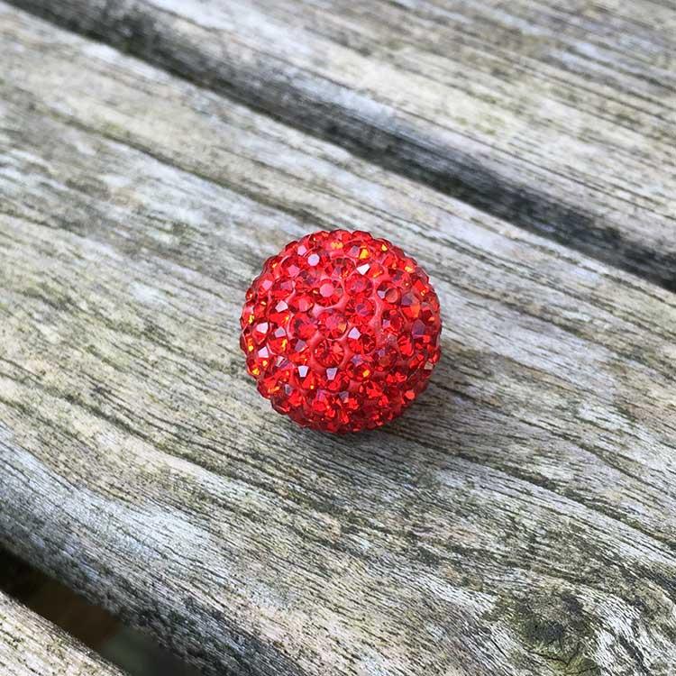 klankbol-rood-strass-16mm
