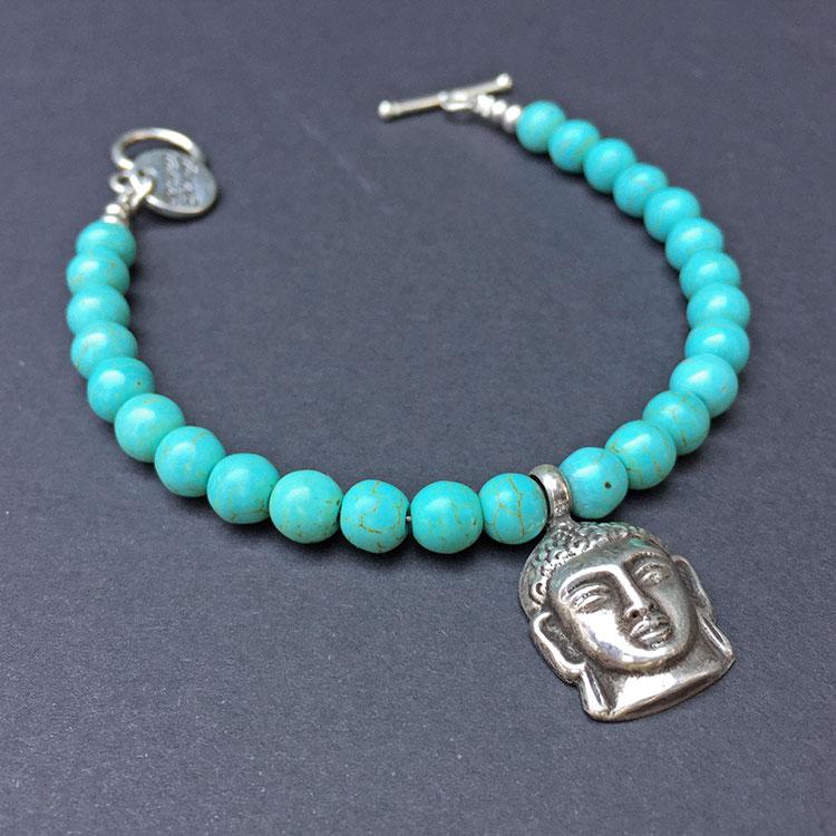heaven eleven, armband met zilveren buddha